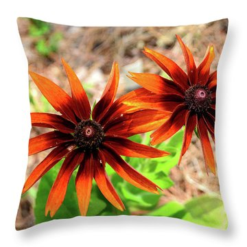 Throw Pillow featuring the photograph Masked by Larry Bishop