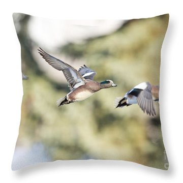 Masked Procession Throw Pillow