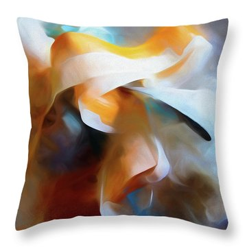 Throw Pillow featuring the mixed media Masking Tape And Paint Composition by Lynda Lehmann