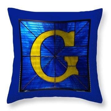 Masonic G Throw Pillow