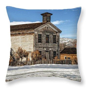 Masonic Lodge School Throw Pillow