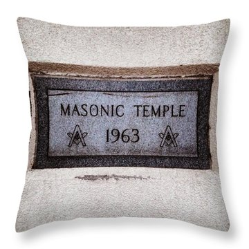 Masonic Temple Throw Pillow