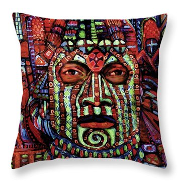 Masque Number 3 Throw Pillow