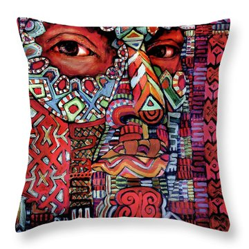 Masque Number 4 Throw Pillow