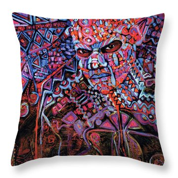 Masque Number 5 Throw Pillow
