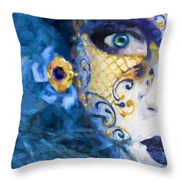 Masquerade I Throw Pillow