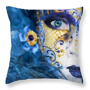 Masquerade I Throw Pillow