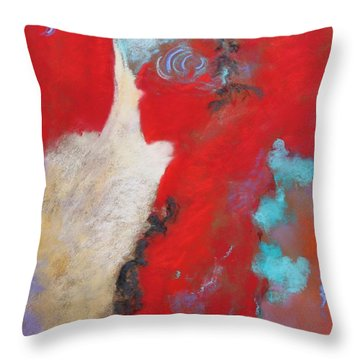 Throw Pillow featuring the painting Masquerade  by M Diane Bonaparte