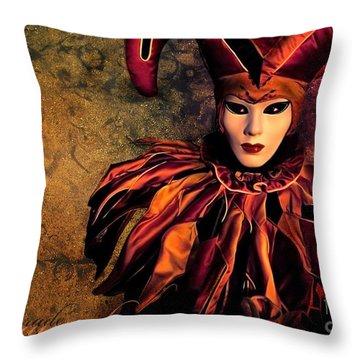Masquerade Throw Pillow by Jacky Gerritsen
