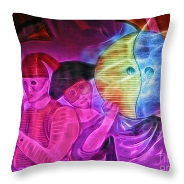 Masquerade Throw Pillow by Sue Melvin