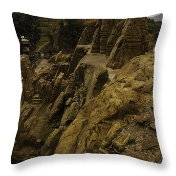 Masroor Temple Throw Pillow by Rajiv Chopra