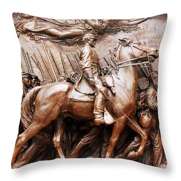 Massachusetts 54th  Throw Pillow