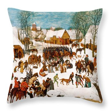 Massacre Of The Innocents Throw Pillow by Pieter Bruegel the Elder