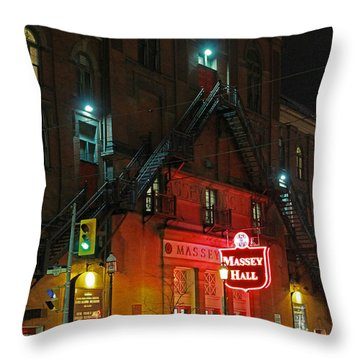 Massey Hall  Throw Pillow