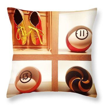 Massive Balls And Great Shoes Throw Pillow