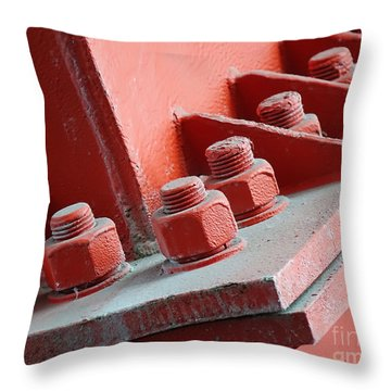 Throw Pillow featuring the photograph Massive Bolts And Nuts by Yali Shi