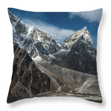 Throw Pillow featuring the photograph Massive Tabuche Peak Nepal by Mike Reid