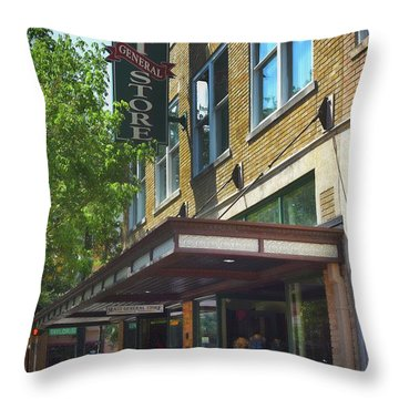 Throw Pillow featuring the photograph Mast General by Skip Willits
