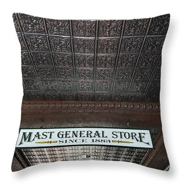 Throw Pillow featuring the photograph Mast General Store II by Skip Willits