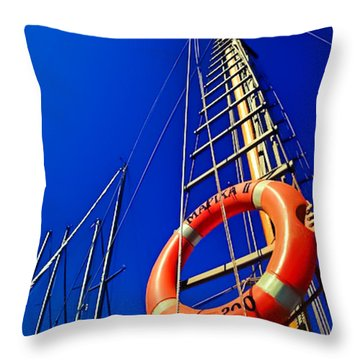 Mast Pole Throw Pillow