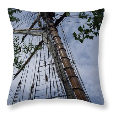 Mast Throw Pillow by Test