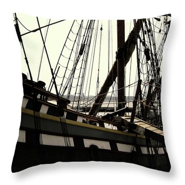 Master And Commander V2 Throw Pillow by Douglas Barnard