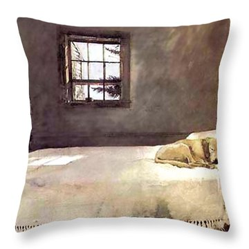 Master Bedroom  Throw Pillow by Andrew Wyeth
