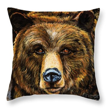 Throw Pillow featuring the painting Master by Igor Postash