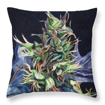 Master Kush Throw Pillow by Anita Toke