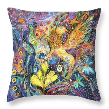 Master Of The Magic Key Throw Pillow by Elena Kotliarker