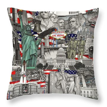 Masterpiece America Throw Pillow