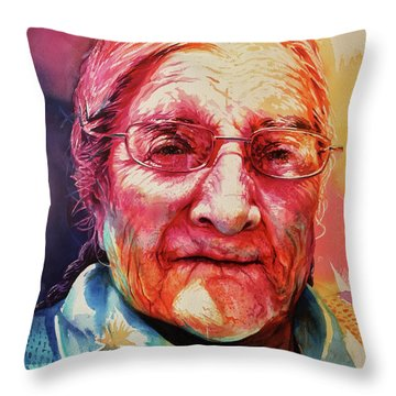 Throw Pillow featuring the painting Windows To The Soul by J- J- Espinoza