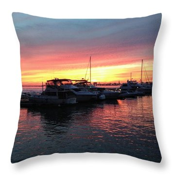 Masts And Steeples Throw Pillow