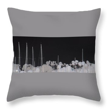 Masts Throw Pillow