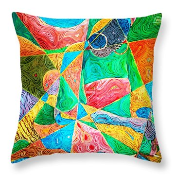 Mat Weaver Throw Pillow