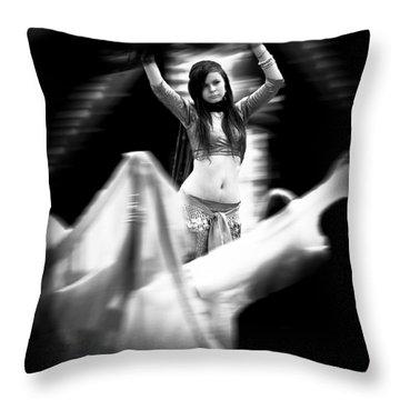 Mata Hari Throw Pillow by Bob Orsillo