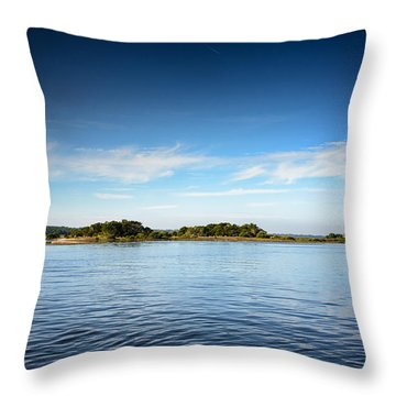 Blue River Inlet  Throw Pillow