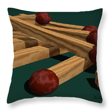 Matches Throw Pillow by Walter Chamberlain