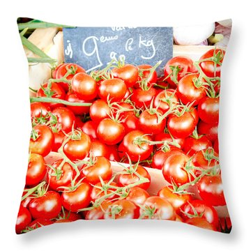 Throw Pillow featuring the photograph 'maters by Jason Smith