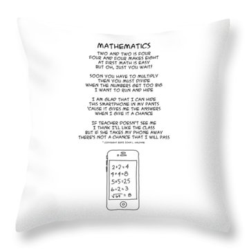 Throw Pillow featuring the drawing Mathematics by John Haldane