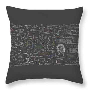 Maths Formula Throw Pillow by Setsiri Silapasuwanchai