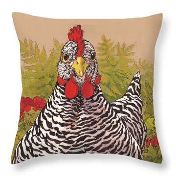 Chickens Throw Pillows
