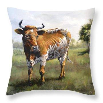 On The Florida Prairie Matilda Throw Pillow