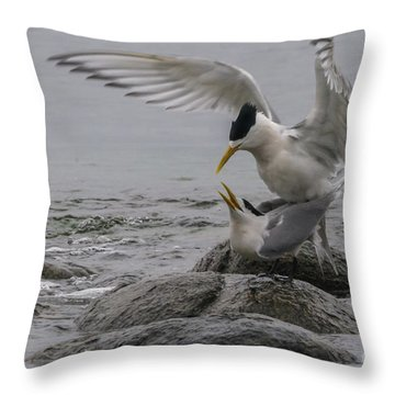 Throw Pillow featuring the photograph Mating Pair 2 by Werner Padarin