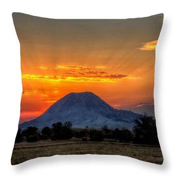 Mato Paha, The Sacred Mountain Throw Pillow