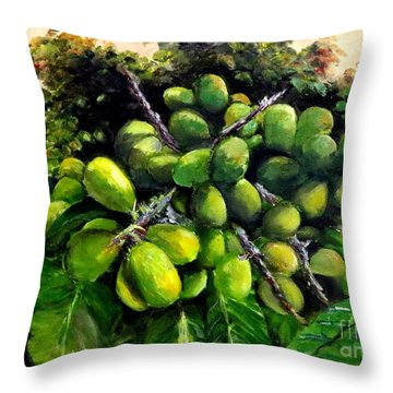 Matoa Fruit Throw Pillow