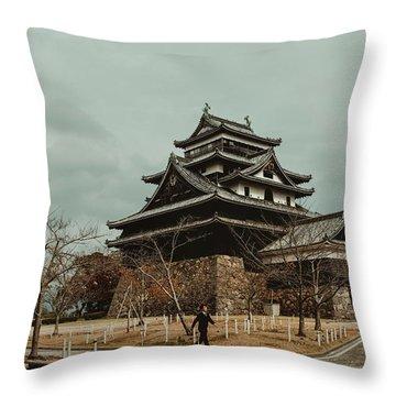 Matsue Castle Throw Pillow