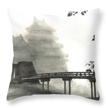 Matsumoto Morning Mist Throw Pillow