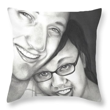 Matt And Jasmine Throw Pillow by AC Williams