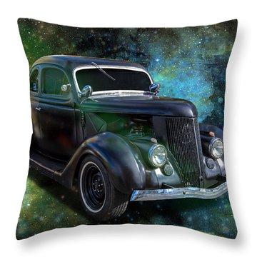 Matt Black Coupe Throw Pillow